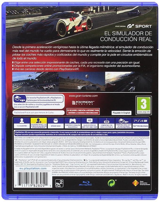Gran Turismo Sport + Volante Thrustmaster T300RS GT Edition Force Feedback - 3 pedales - Licencia oficial GT Sport: PlayStation 4: Amazon.es: Videojuegos