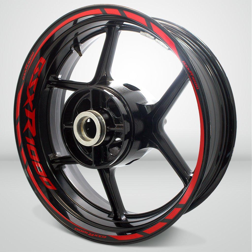 Suzuki GSXR 1000 Gloss Red Motorcycle Rim Wheel Decal Accessory Sticker