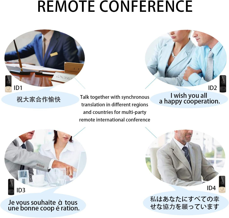 Smart Voice Language Translator Device Vanford Remote International Conference for Business Travel Learning Champagne Gold 75 Languages Real-Time Translation Image Recognition /& Translating