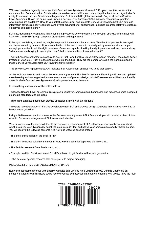 Service-Level Agreement Sla Standard Requirements: Gerardus Blokdyk
