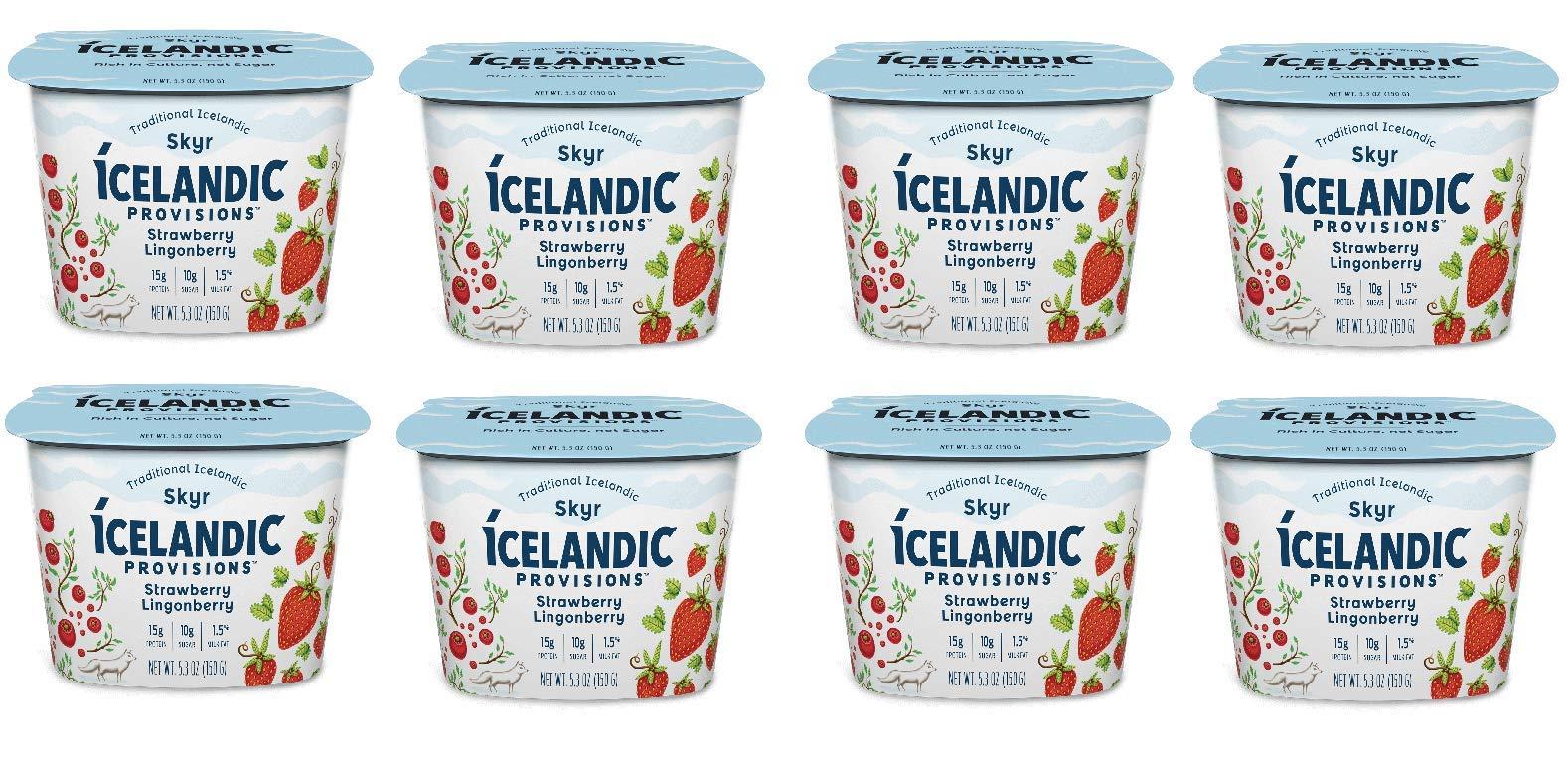 Icelandic Provisions, Skyr Strawberry Yogurt (Pack of 8)