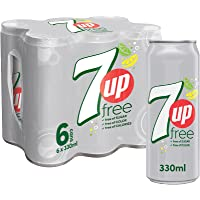 7up Free, Carbonated Soft Drink, Cans, 6 x 330 ml
