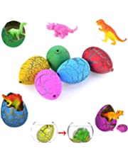 Yuanlong Dinosaur Toys for Kids 12Pcs Cute Magic Hatching Growing Pet Dinosaur Eggs, Colorful Dino Eggs Toys for Kids Party Supplies Favors