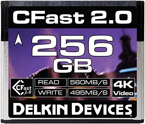 Amazon.com: Delkin 128 GB Cine CFast 2.0 Tarjeta de memoria ...