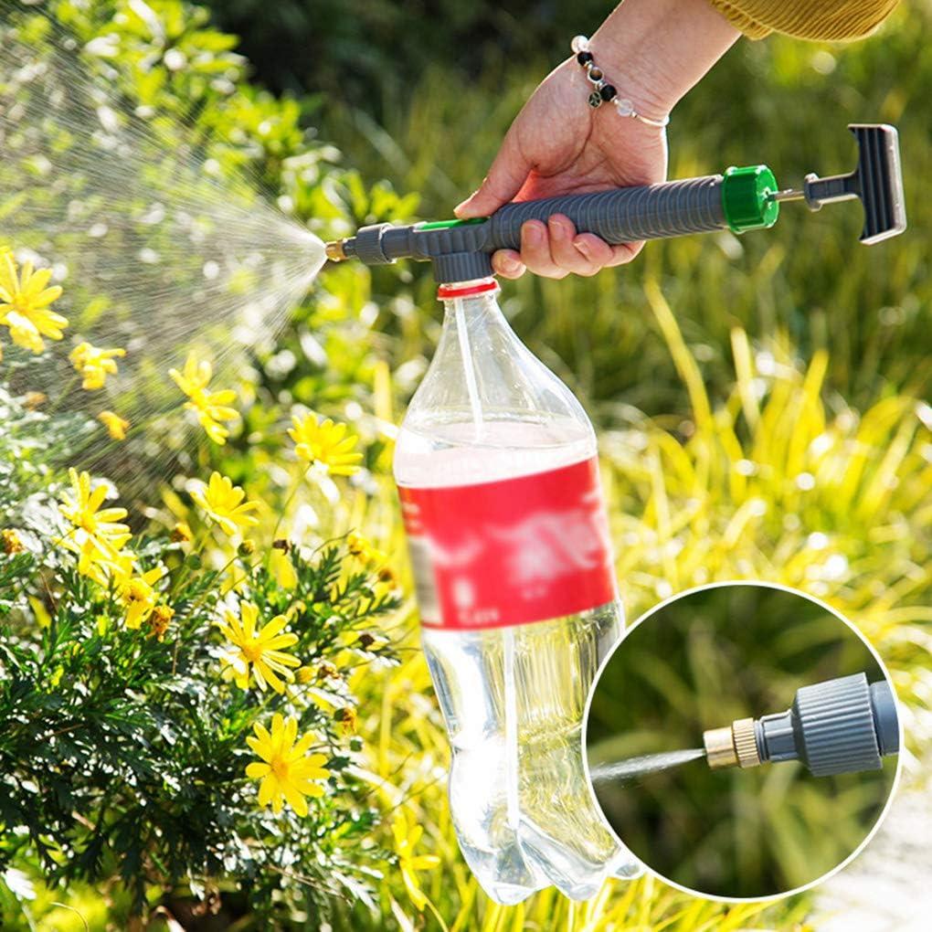 Qinghengyong High Pressure Air Pump Manual Sprayer Adjustable Drink Bottle Spray Head Nozzle Garden Watering Tool