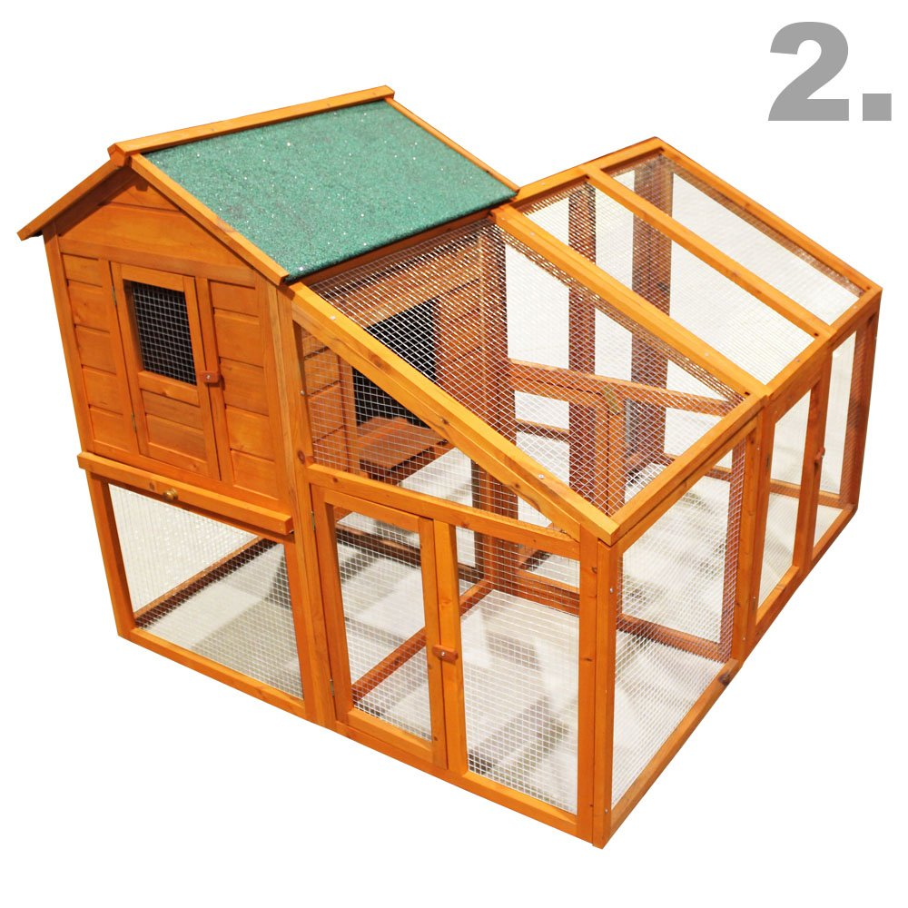 Gallinero Caseta gallinas Corral Zona descubierta Corredor Refugio Pollos Mascotas Caseta madera Ave: Amazon.es: Jardín