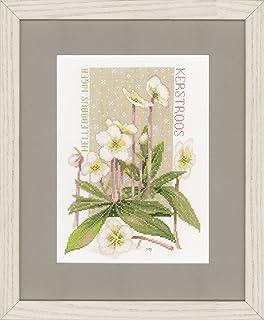 Lanarte Z/ählmusterpackung Feldblumen Z/ählstoff Elfenbein Kreuzstichpackung Mehrfarbig 38 x 45 x 0.3 cm Baumwolle