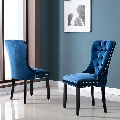 Upholstered Velvet Dining Chairs Set of 2
