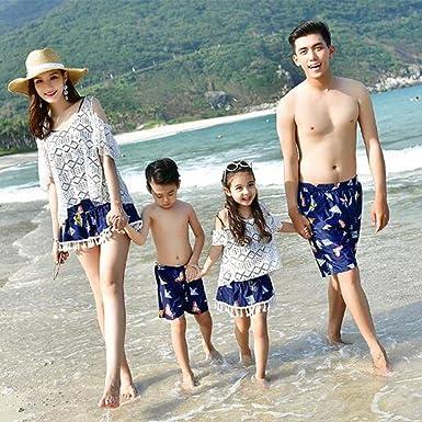d3d1c110227 カップル 親子タイプ 家族 ショートパンツ メンズ ビキニセット レディース ペアルック 水着 体型カバー プール 温泉
