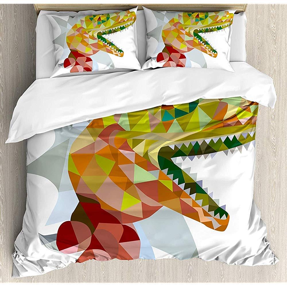 3-Piece Bedspread Set Juego De Funda Nórdica De Reptiles Mosaico ...