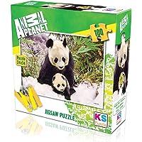 KS Puzzle 100 Parça Panda Mother 10109