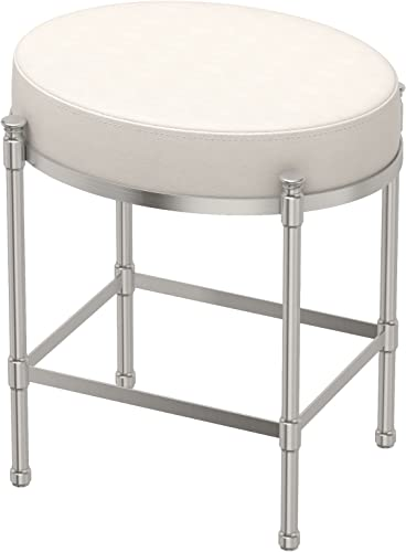 Gatco 1359 Vanity Stool Oval Vanity Stool, Satin Nickel