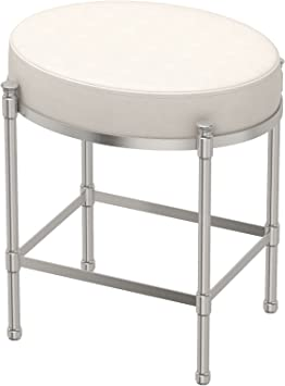 Gatco 1359 Vanity Stool Oval Vanity Stool Satin Nickel Amazon Com