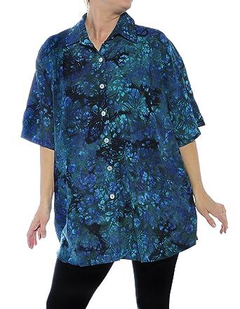 We Be Bop Womens Batik Plus Size Flora Vista New Tunic Top 0 X 1x 2