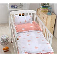 2 Piece//Pc BABY BEDDING SET COT BED QUILT//DUVET PILLOW CASE COVER 150x120 Teddy/&Fish Brown