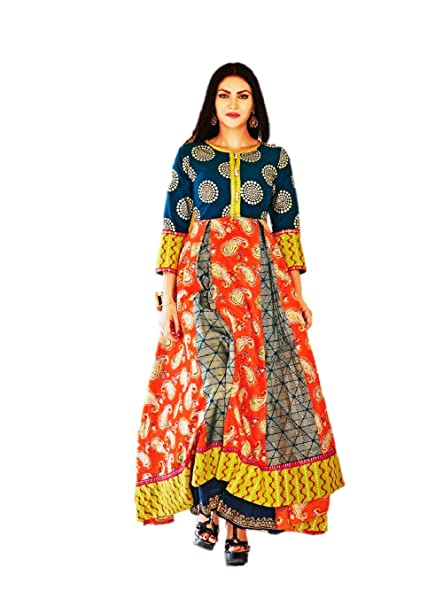 86e609bc988 Kajal Style Mastani Vol 1 Kurti SIZE L  Amazon.in  Clothing   Accessories