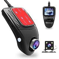 """Dash Cam, Tenswall Telecamera per Auto WiFi 1080P Videocamera Veicoli Registratore Visione Notturna, 170 °, G-Sensor, Parking Monitor, Motion Detector, Loop Recording e 2.0 """"Screen"""