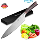 Chef Knife - PAUDIN Pro Kitchen Knife 8 Inch Chef's Knife N1 German High Carbon Stainless Steel Knife with Ergonomic Handle, Ultra Sharp, Best Choice for Home Kitchen and Restaurant