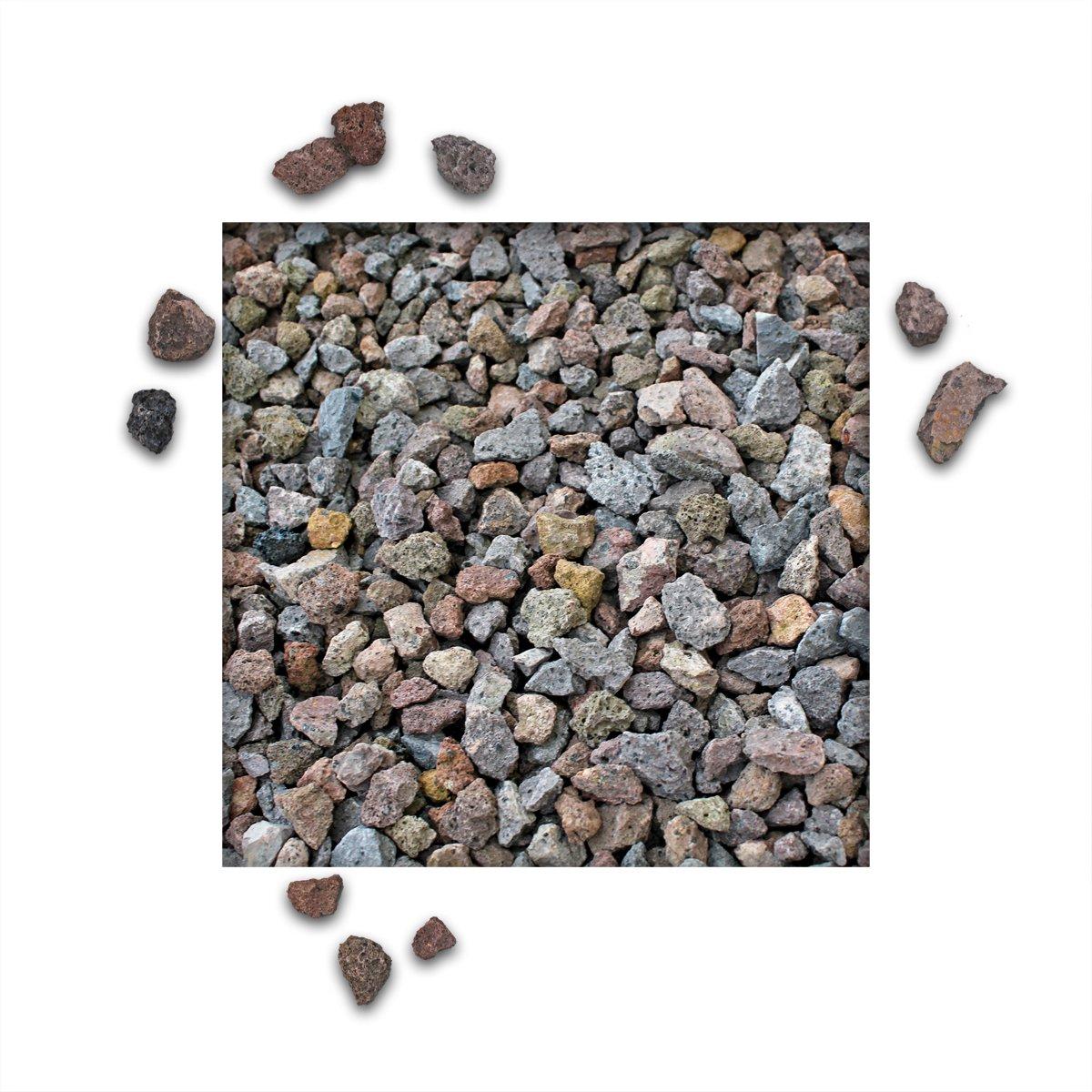 25 kg Lava Splitt Pflanzgranulat Schneckenschutz Lavastein Lavasteine Aquarium Dachbegr/ünung Lavagranulat K/örnung 16//32 mm