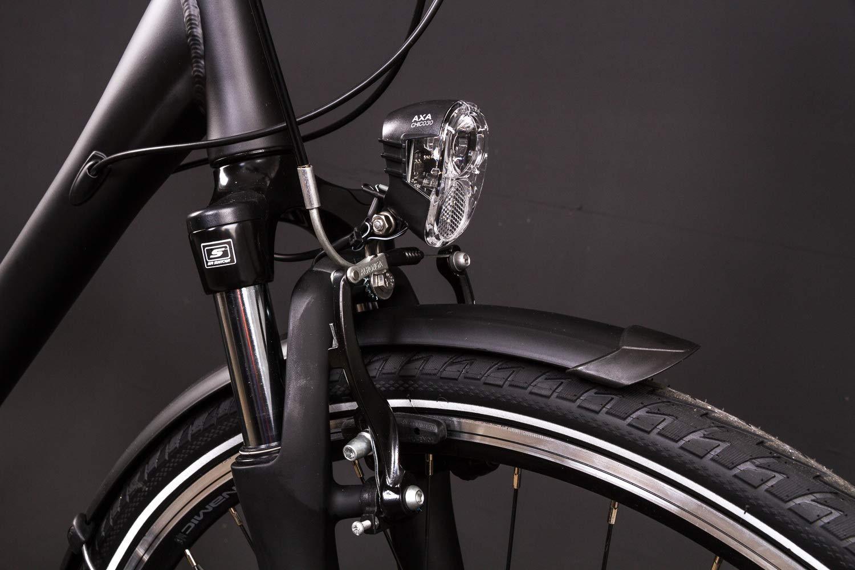 28 Zoll Alu Herren Trekking Fahrrad MIFA Shimano 24 Gang Nabendynamo Continental schwarz B-Ware