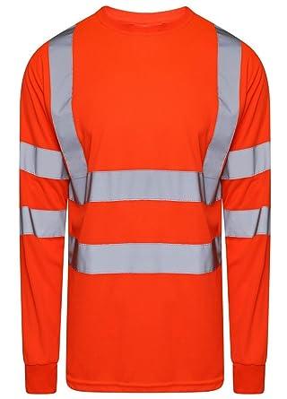 53f03fed90d0 FASHION FAIRIES Mens Adult Hi Vis Viz 2 Tone High Visibility T Shirt ...