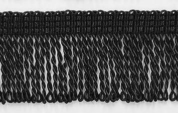 DecoPro 5 cm de Largo, Color Negro Fino Bullion Flecos, Estilo #BFT2 Color