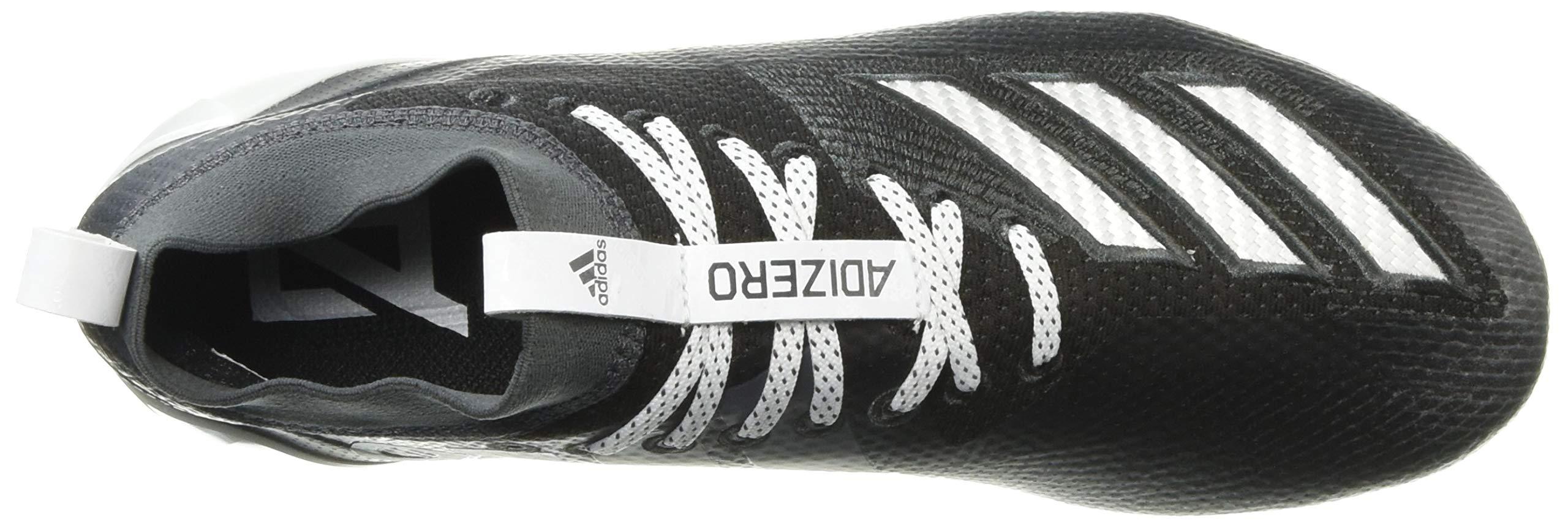 adidas Men's Adizero 8.0 Football Shoe Black/White/Grey 6.5 M US by adidas (Image #8)