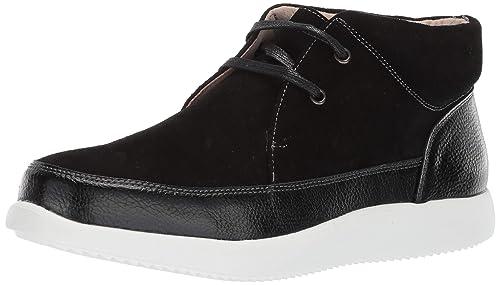 Stacy Adams - Buckley Botas Tobilleras con Cordones Tipo Mocasines con Puntera Hombre, Negro (Negro), 9 M US: Amazon.es: Zapatos y complementos