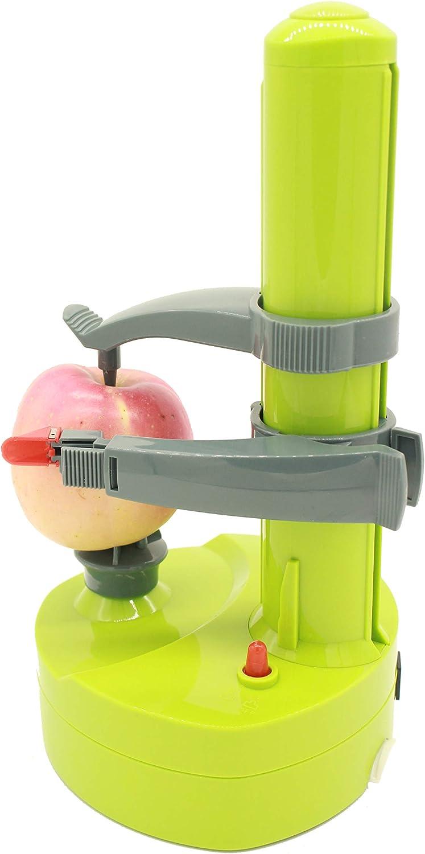 HongDee Electric Fruit Peeler Automatic Apple/Potato Peeler Extra Blades Are Given Inside Package Apple Peeler Apple Slicer Kitchen Peeling Tools (Green)