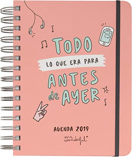 Mr. Wonderful - Agenda anual rotu 2019 diaria - Todo lo que era ...