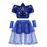 moily Unisex Girls Boys Sequins Hiphop Street Dance