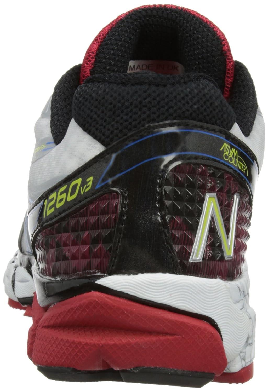 NEW BALANCE 1260 v3 Zapatilla de Running Caballero, Blanco/Negro/Rojo, 40.5 - Anchura D: Amazon.es: Zapatos y complementos