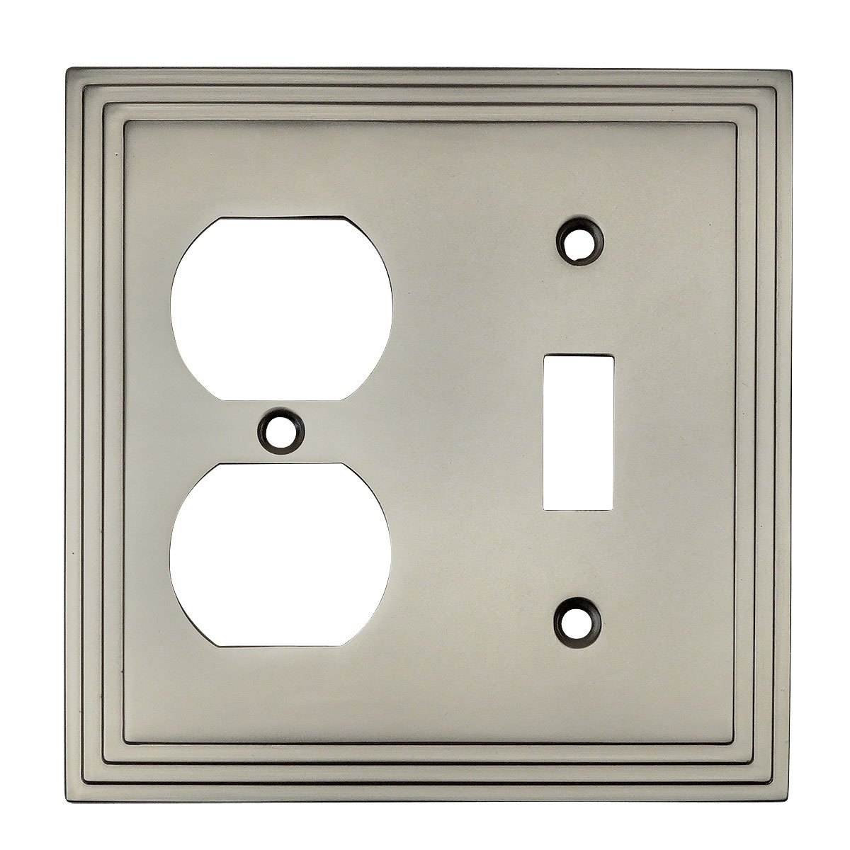 Satin Nickel Toggle Amp Duplex Combo Wall Plate Outlet