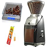 Baratza Virtuoso Conical Burr Grinder + Coastline Digital Pocket Scale + Brushtech Grinder Brush
