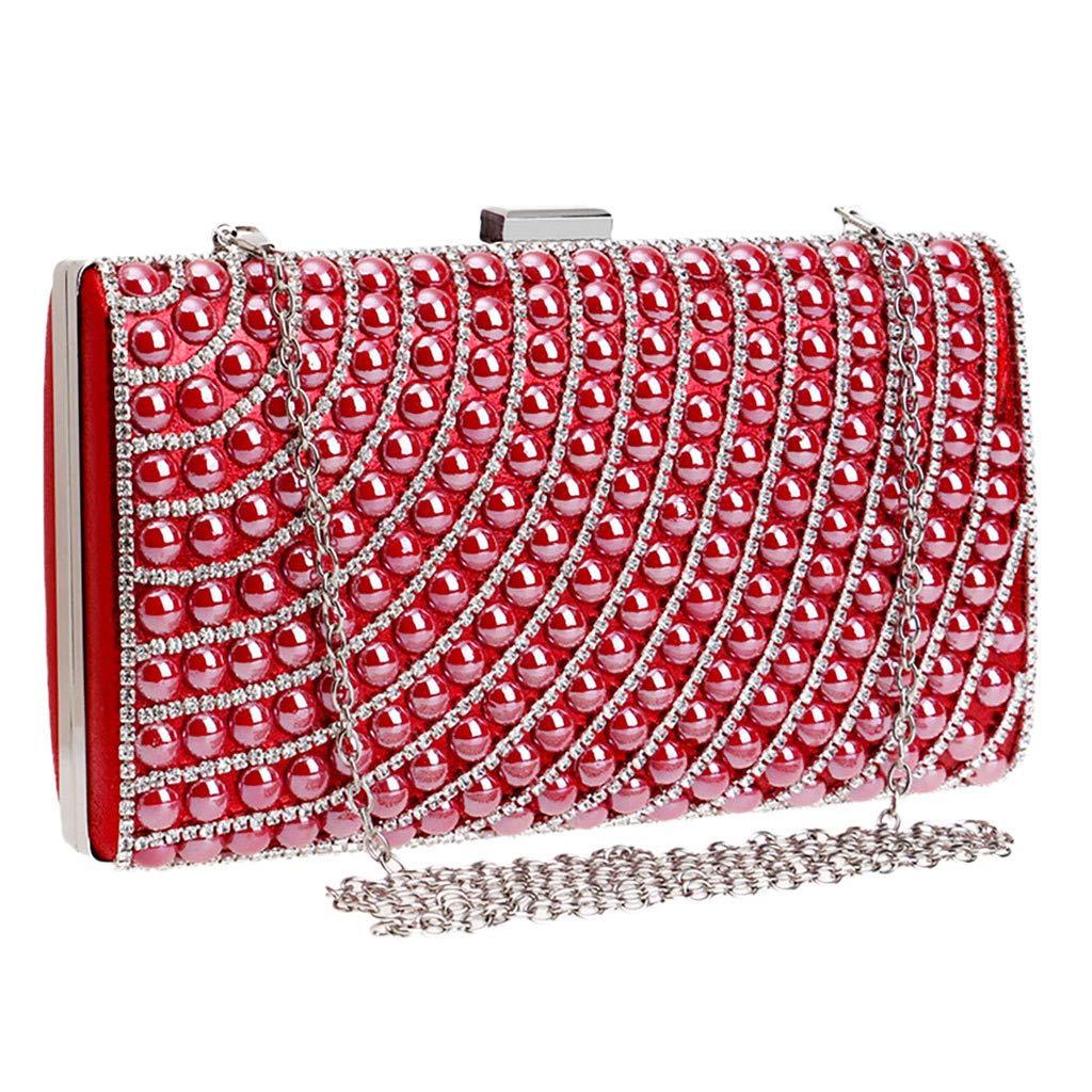 LUXISDE Women Evening Envelope Handbag Party Sparkly Clutch Purse Shoulder Cross Bag