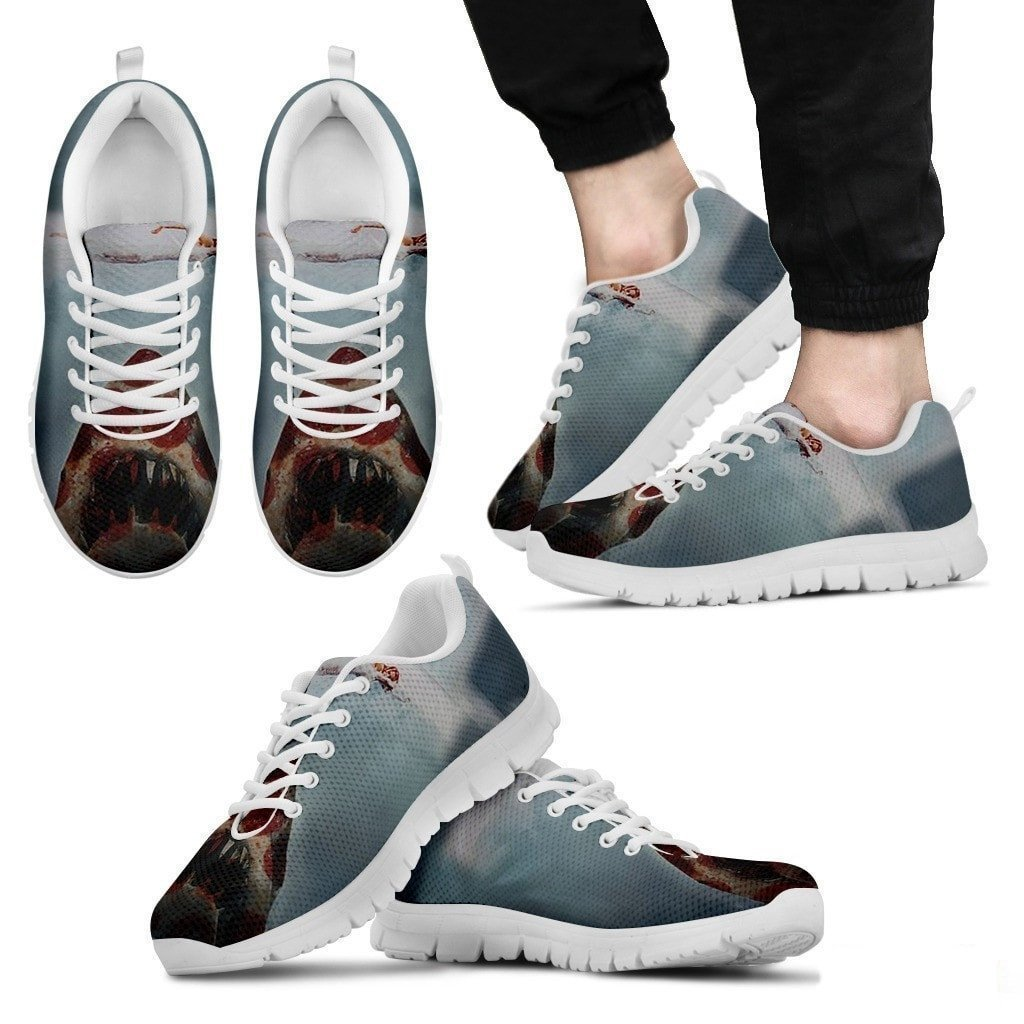 12. US Sizes 5 Light Weight Sneakers for Men//Women Men//Women Sneakers Pet By You PetByYou Pizza Shark 3D Printed Sneakers Breathable Jogging Running//Gym Shoes