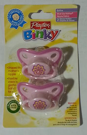 Playtex Baby Binky Most Like Mother Silicone Pacifiers - 6+ Months