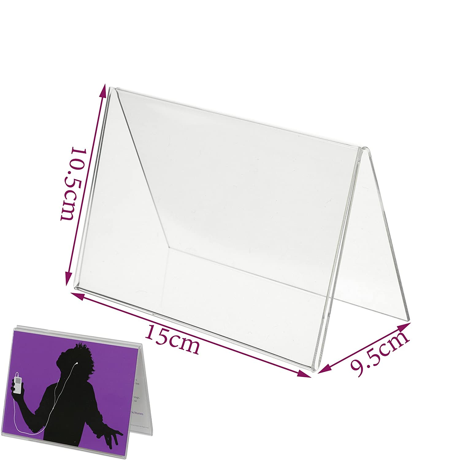New Acrylic Menu Show Card Name Place Table Setting Display Tent Stand Holder