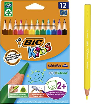 BIC KIDS Dreikant Buntstifte Evolution Triangle Malstifte Stifte Set Stift