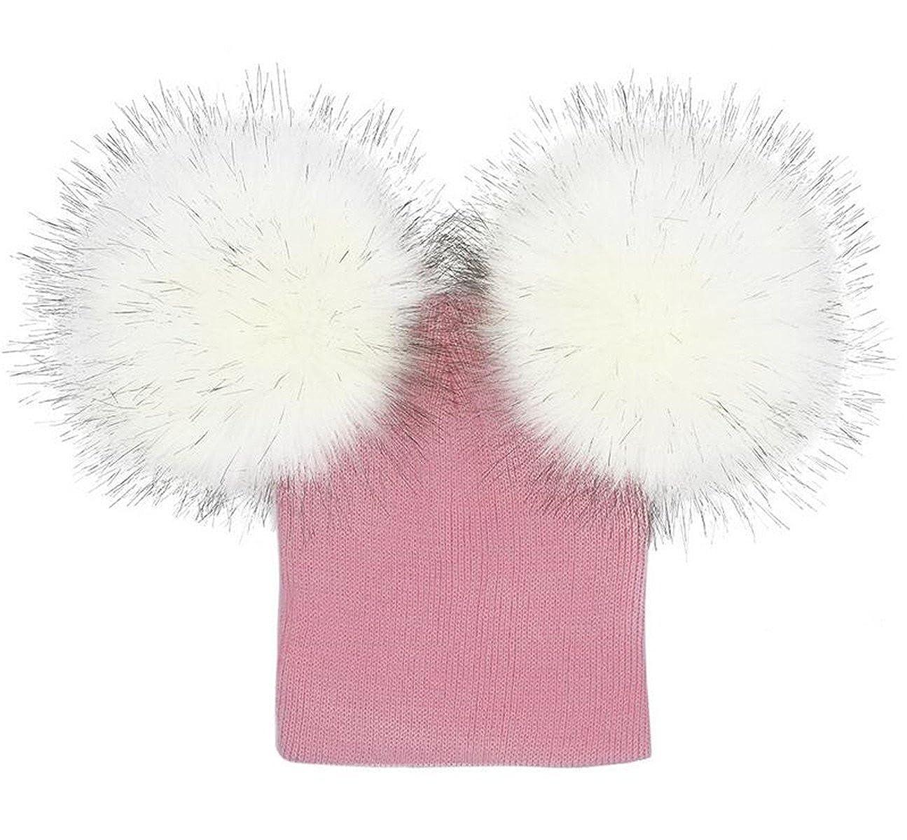AOGD Winter Wolle Gestrickte Hüte Baby Mädchen Schals Kapuze Mönchskutte Beanie Mützen Strickende Große Doppelkugel Aus Wolle Kindermützen