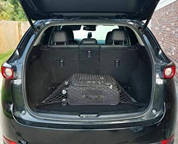 Amazon Com Rear Trunk Space Area Black Horizontal Floor Style Storage Fixed Organizer Web Mesh Luggage Bungee Compartment Cargo Net Red De Carga Del Maletero Trasero For Mazda Cx 5 Cx5 Cx 5 2013 2021
