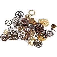 Baoblaze 100g Vintage Charms Gear Pendant Mix Alloy Mechanical Steampunk Cogs For Bracelets Necklace DIY Metal Jewelry Making