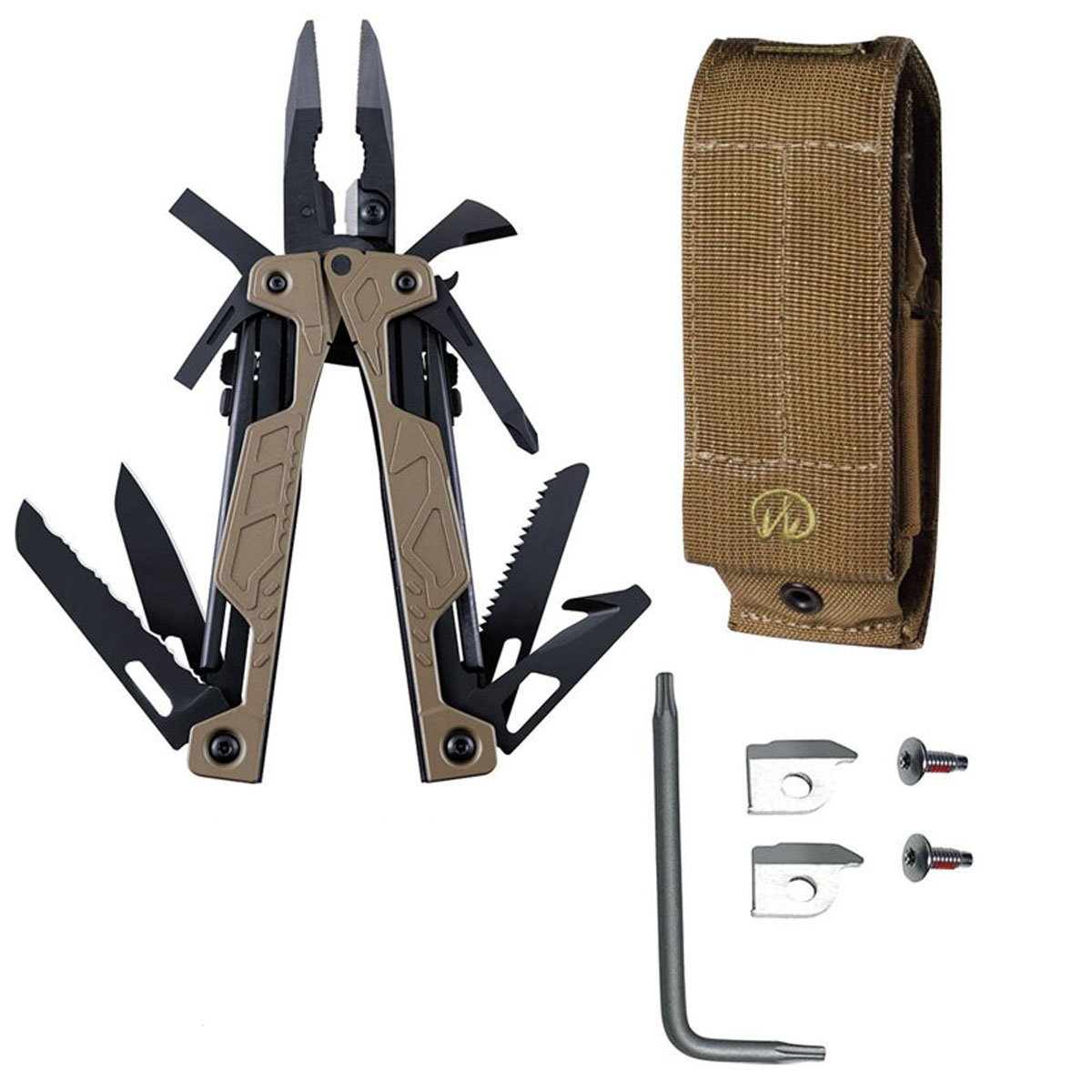 Leatherman 831626 OHT Coyote Tan Multipurpose Multi-Tool With Brown Molle Sheath + Leatherman Regular Wire Cutter Inserts