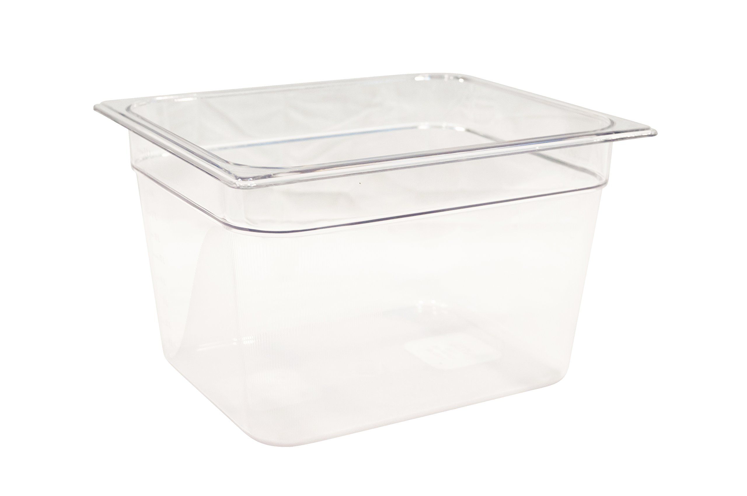 Rubbermaid Commercial Products FG126P00CLR Cold Food Pan, 8'' Deep Pan, 1/2 Size, Clear