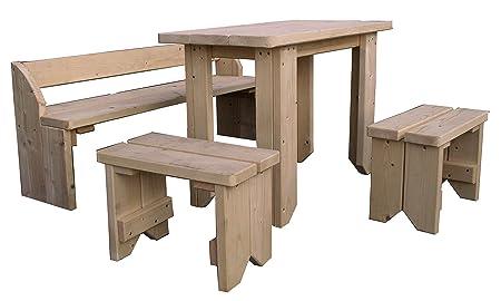 Gartenpirat Kindersitzgruppe Mit Kindertisch Zwei Stuhlen Und Bank