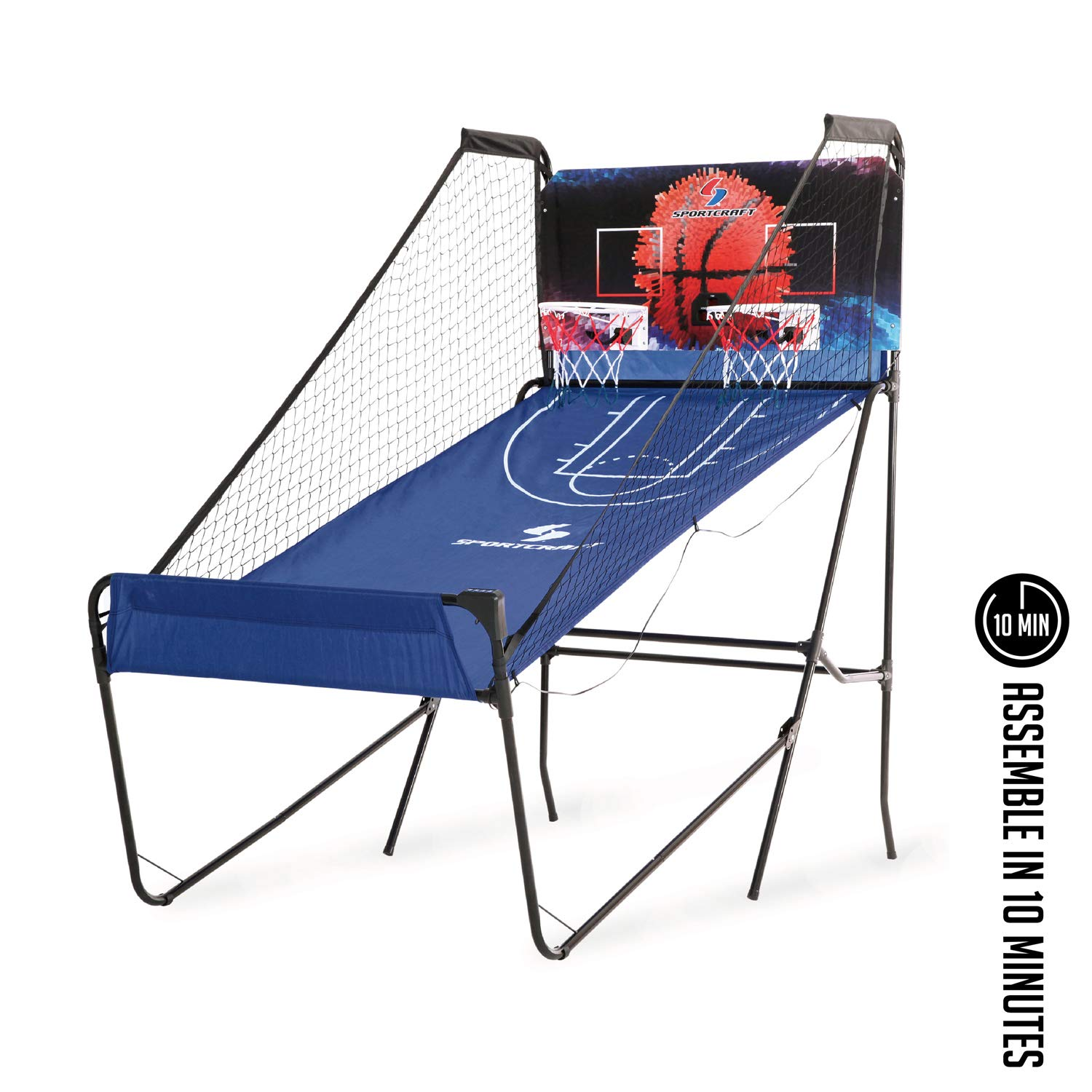 Sportcraft SIR00733 Quick Set-Up Basketball Arcade 8 Game Modes, 2-Players, Setup Less Than 10 Mins, No Tools Required, Heavy Duty 1'' Steel Tube by Sportcraft (Image #6)