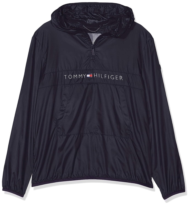 Tommy Hilfiger Unisex Pop-Over Jacket Blouson Gar/çon