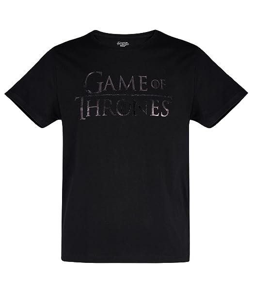 Juego de tronos Hombres Camiseta Manga Corta - Negro AIItrKbo