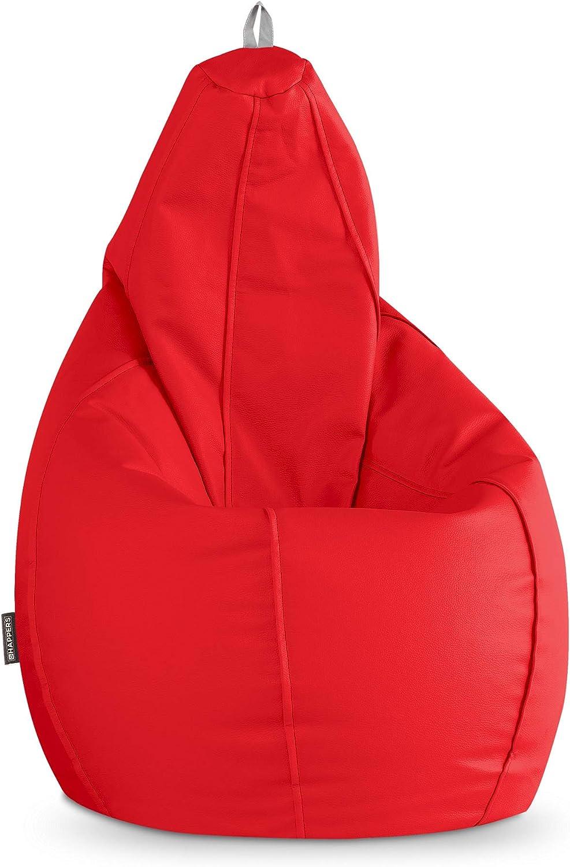 HAPPERS Puff Pera Polipiel Interior Rojo XL