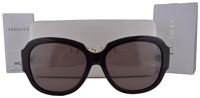 daa4d05684b Amazon.com  Versace VE4304 Sunglasses Eggplant w Purple Brown Lens 5066 7N  VE 4304 For Women  Clothing